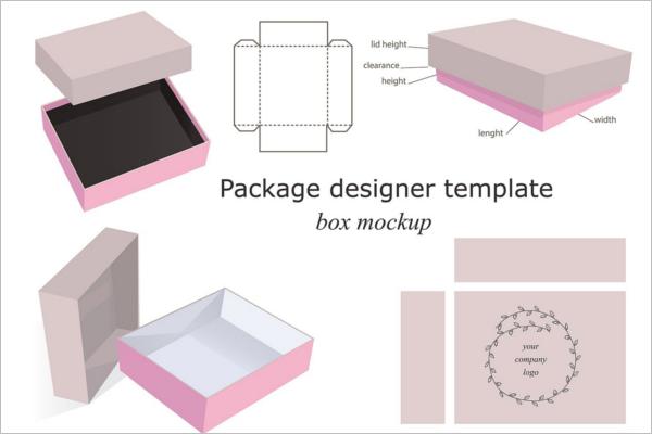 DesignableGift Box Mockup