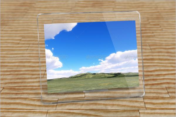Desktop photo Frame Template