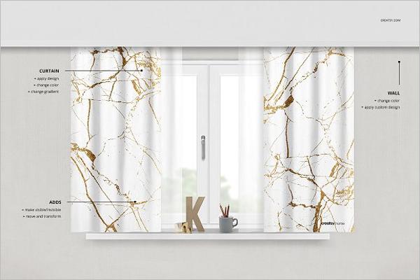 Different Model Curtain Mockup Design