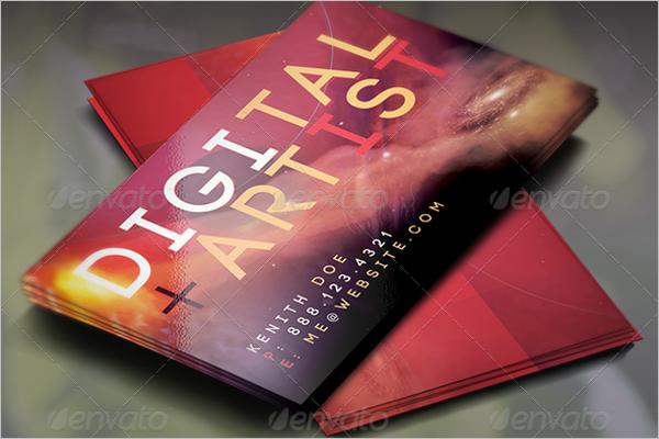 Digital Artist Business Card Psd