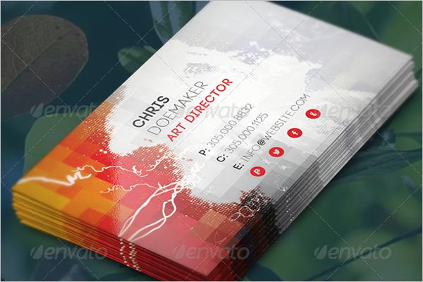 Digital Artist Business Card Template