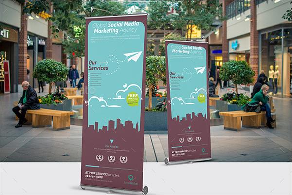 Digital Market Roll-Up Banner Design