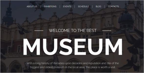 Drag & Drop Museum WordPress Theme