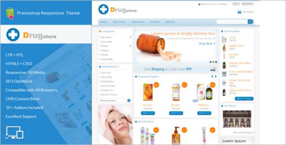 Drug Store Prestashop Psd