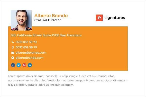 E- Signature HTML Design
