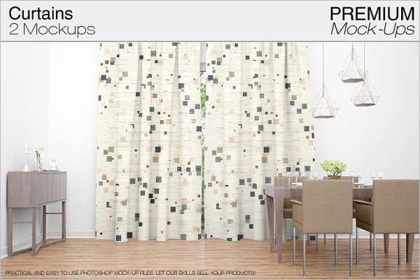 Easy Editable Curtain Mockup