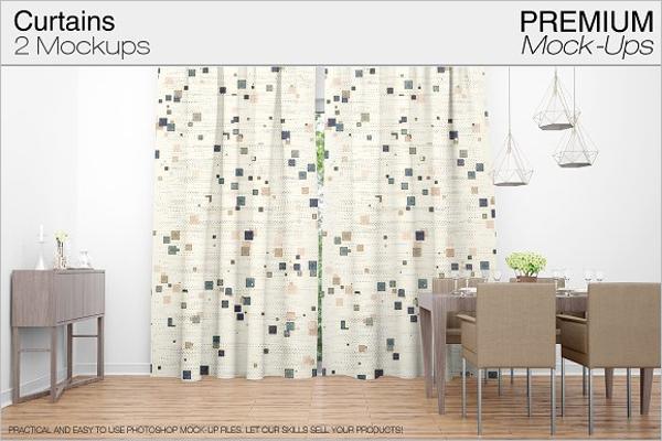 Easy Editable Curtain Mockup