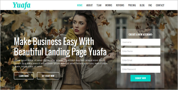 Easy Startup Landing Page Template