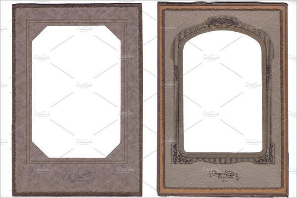 Editable Authentic Antique Photo Frame