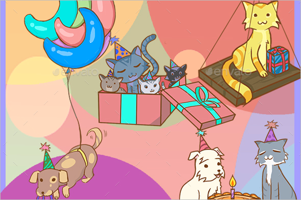 Editable Birthday Party Design