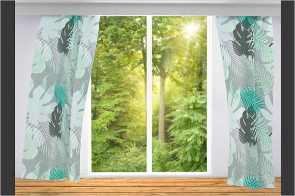 Editable Curtain Mockup Template