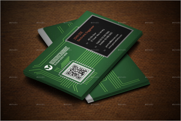 Editable Electric Business Card Template