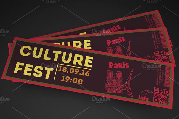 Editable Event Ticket Template
