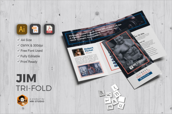 Editable GYM Brochure
