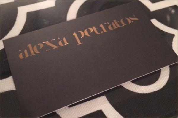 Editable Interior Business Cards