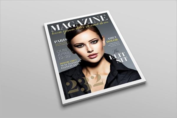 Editable Letter Magazine Mockup