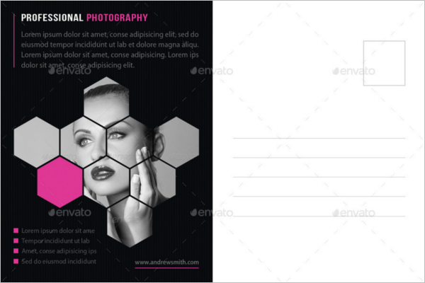 EditablePhotography Postcard Template