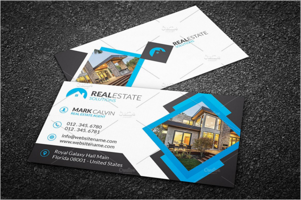 Editable Real Estate Business Card
