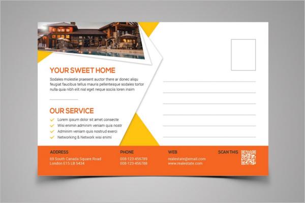 Editable Real Estate Postcard Template