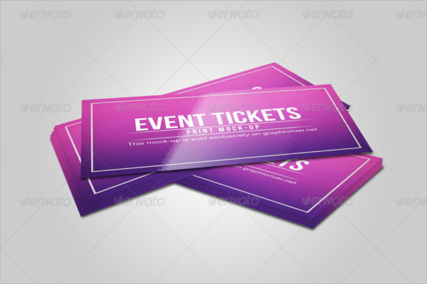 Editable Ticket Print Mockup