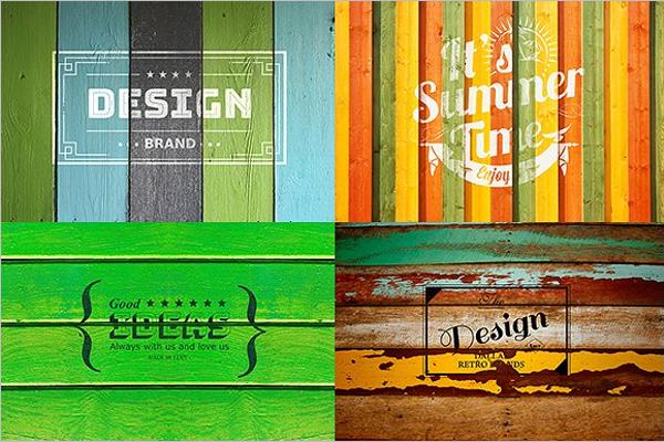 Editable Wooden Banner Template