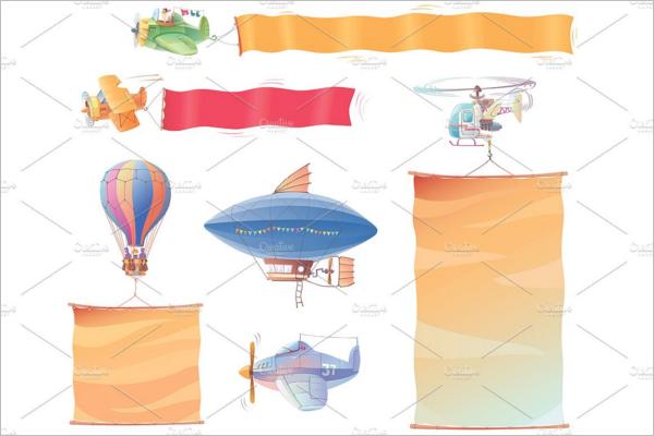 Editavel Cartoon Banner Template