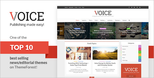Editorial Social Networking WordPress Theme