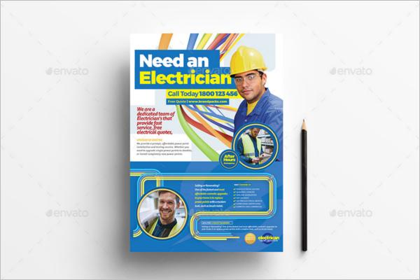 Electrician Advertisement Poster Design