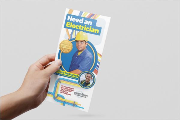 Electrician Business Rack Card Template