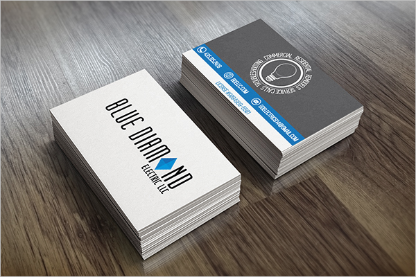 Electrician Business Visiting Card Sample