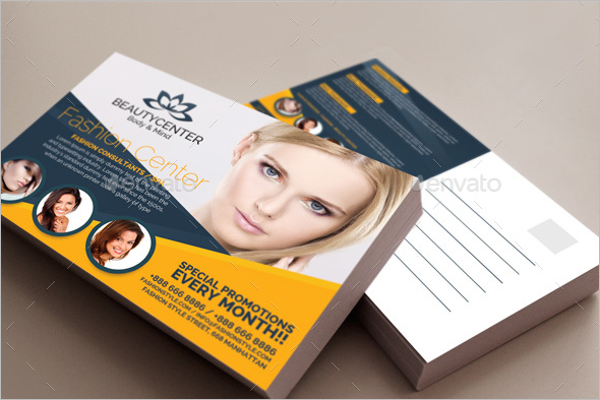Elegant Beauty Center Postcard Template