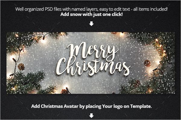 Elegant Christmas Facebook TemplateElegant Christmas Facebook Template
