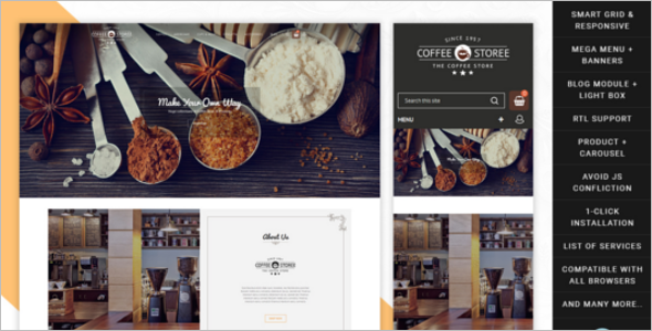 Elegant Coffee Store Prestashop Theme