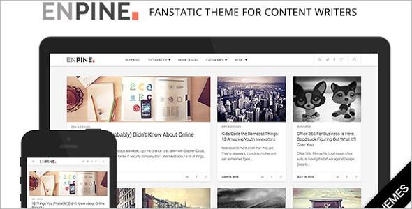 Elegant Grid Style WordPress Template
