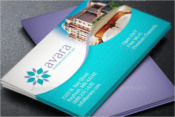 Elegant Hotel Business Card Templates