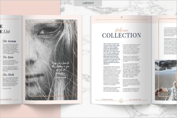Elegant Letter Magazine Mockup