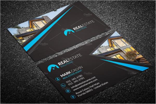 Elegant Real Estate Business Card Design