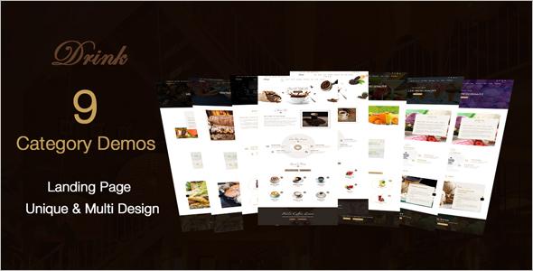 Elegant Restaurant Landing Page Template