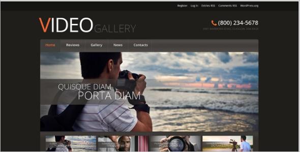 Elegant multimedia wordPress theme