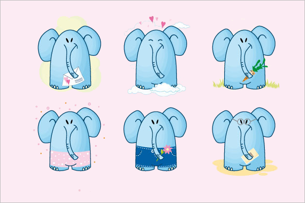 Elephant Cartoon Photo Bundle