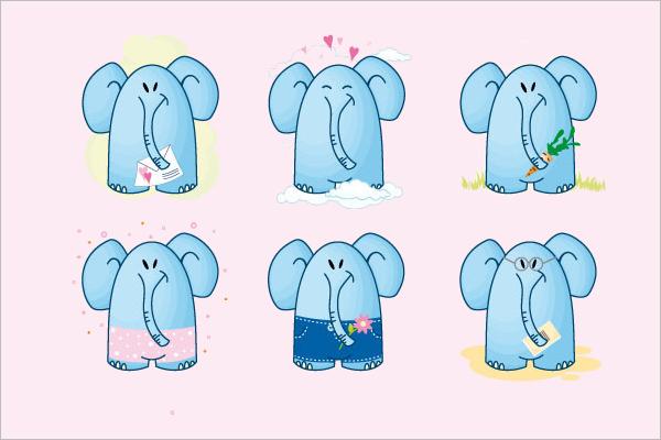 Elephant Cartoon Photo Bundle