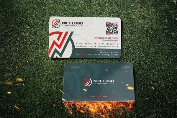 Energy Business Card Template
