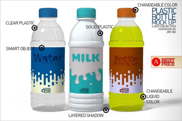 Energy Drink Bottle Mockup