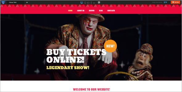 Entertainment Circus WordPress Template