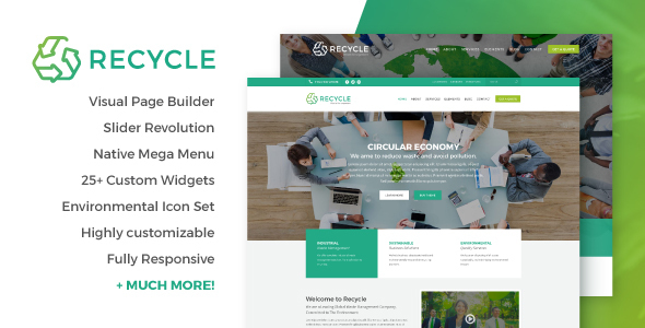 Environmental Recycling WordPress Theme