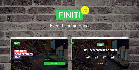 Event Landing Page Video Template