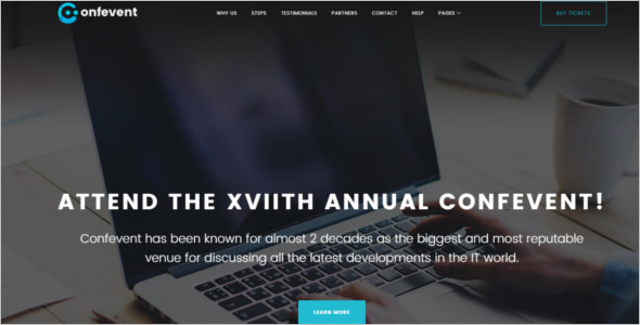 Event Landing Page WordPress Theme