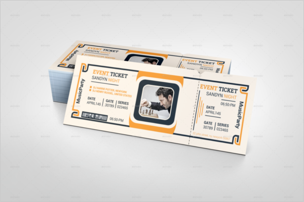 Event Model Ticket Template