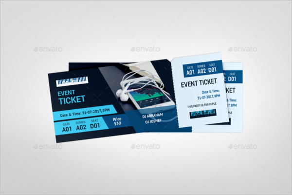 Event PSD Ticket Template