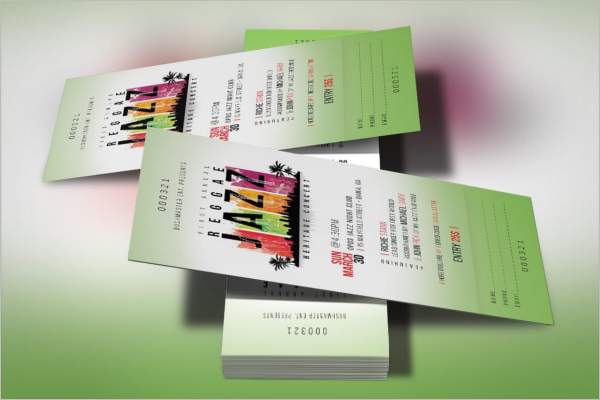 Event Ticket Photoshop Template